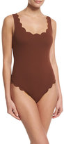 Marysia Swim Palm Springs Scalloped One-Piece Swimsuit, Kava