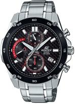 Edifice black multi dial stainles steel bracelet mens watch