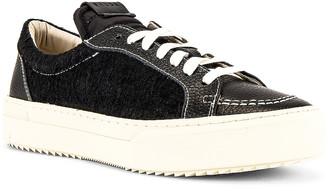 Rhude V1-Lo Sneaker in Black Leather & Black Suede & White | FWRD
