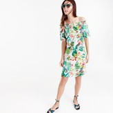 J.Crew Off-the-shoulder dress in Ratti® Into the Wild print