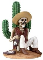 Summit 3.5 Inch Day Of The Dead Boracho Sitting By A Cactus Figurine