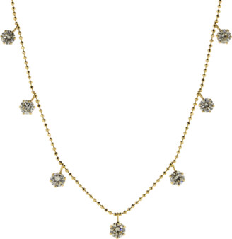 Graziela Yellow Gold Medium Floating Diamond Necklace