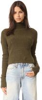 R 13 Cashmere Rib Turtleneck Sweater