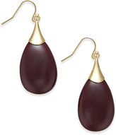 INC International Concepts Gold-Tone Teardrop Stone Earrings, Only at Macy's