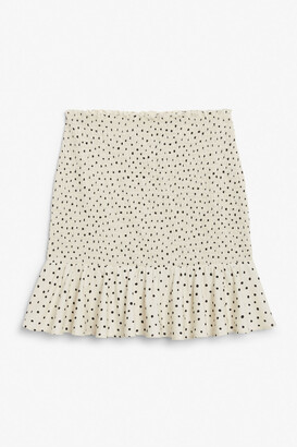 Monki Shirred mini skirt