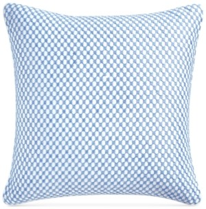"Charter Club Damask Designs Embroidered Geometric 210-Thread Count 18"" x 18"" Decorative Pillow, Created for Macy's Bedding"