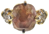 Cathy Waterman Rustic Diamond Oak Leafside Ring - Yellow Gold