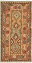 Ecarpetgallery Hereke Flatweave Hand-Woven Wool Runner