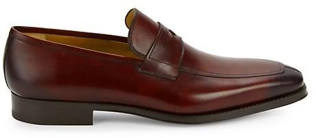 Magnanni Leather Apron Toe Loafers