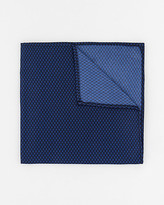 Le Château Geometric Print Woven Pocket Square