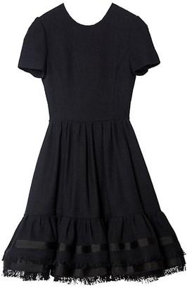 Carolina Herrera Fit-&-Flare Short-Sleeve Dress