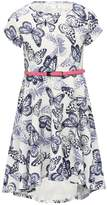 M&Co Butterfly print belted skater dress