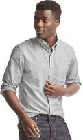 Gap True wash poplin clip dot standard fit shirt