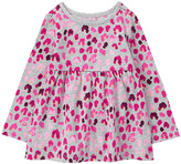 Gymboree Gray & Pink Leopard-Print Knit Tunic - Infant & Toddler