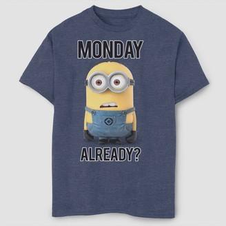 Fifth Sun Boys' Despicable Me Minions Monday Already T-Shirt - Navy