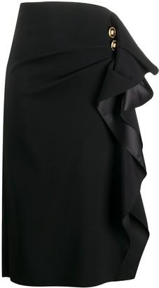 Versace Ruffled-Detail Midi Skirt