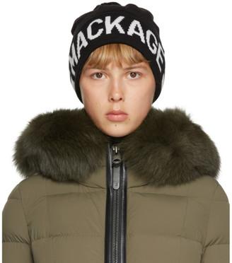 Mackage Black Wool Logo Kiko Beanie
