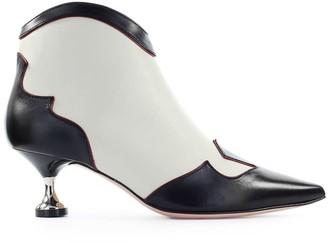 Roberto Festa Black Cream Dehler Ankle Boot