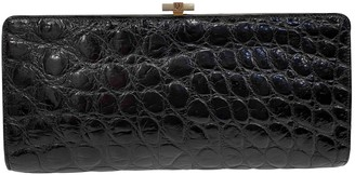 Christian Dior Black Exotic leathers Clutch bags