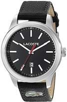 Lacoste Men's 2010778 Auckland Analog Display Japanese Quartz Black Watch
