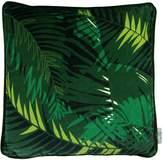 P.Westwell Large Velvet Cushion Featuring the Tunkun Palm Verdurous Print