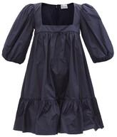Thumbnail for your product : RED Valentino Square-neck Taffeta Mini Dress - Navy