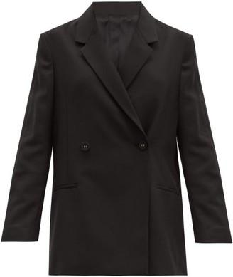 Totême Loreo Bouble-breasted Crepe Jacket - Black