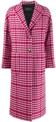 Frankie Morello gingham check patterned boxy coat