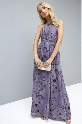Little Mistress Lavender Print Maxi