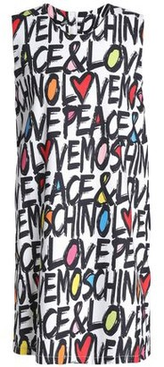 Love Moschino Printed Stretch Cotton And Linen-blend Mini Dress