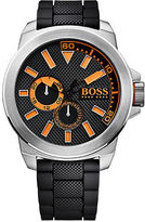 HUGO BOSS Boss Orange New York Stainless Steel Black Silicone Strap Watch