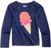 Epic Threads Long-Sleeve Ice Cream T-Shirt, Toddler Girls, Created for Macy's