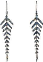 Alexis Bittar Sapphire Fringe Drop Earrings
