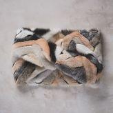 Faux Fur Infinity Scarf - Blush Chevron