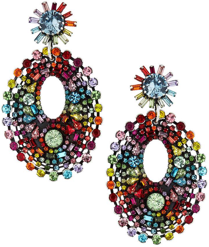 1f0ebca5724fc Mathilda Crystal Chandelier Earrings Rainbow
