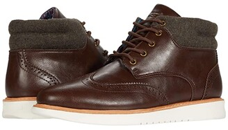 Ben Sherman Nu Casual Wing Tip Boots (Chestnut) Men's Shoes