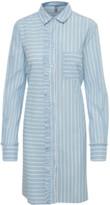Culture Blue Striped Ruffle Cuaimi Dress - XS
