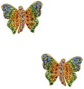 Noir Sao Paulo Butterfly CZ Stud Earrings