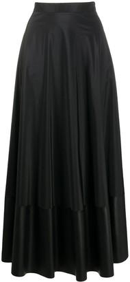 D-Exterior Panelled High-Waisted Skirt