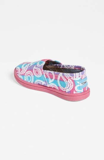 Toms 'Classic Tiny - Rainbow Paisley' Slip-On (Baby, Walker & Toddler) Purple Rainbow Paisley 9 M