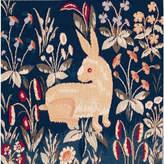Charlotte Home Furnishings Inc. Rabbit in Blue II European Cushion