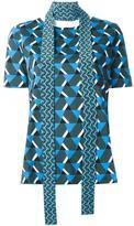 Marni geometric neck tie top