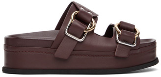 3.1 Phillip Lim Purple Freida Double Buckle Platform Sandals