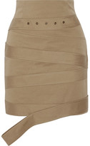 Monse - Cotton-canvas Mini Skirt - Beige