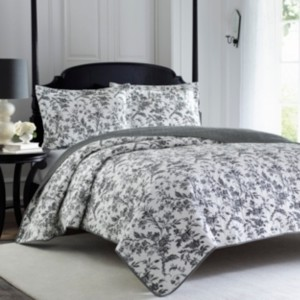 Laura Ashley King Amberley Quilt Set Bedding