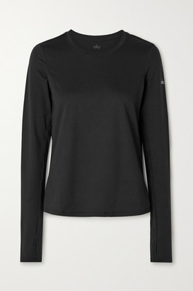 Alo Yoga Finesse Stretch-jersey Top - Black