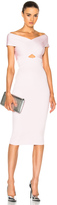 Cushnie et Ochs Crossover Boatneck Pencil Dress