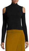 A.L.C. Mervyn Ribbed Cold-Shoulder Sweater, Black