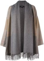 Salvatore Ferragamo fringed oversized coat - women - Cashmere - M