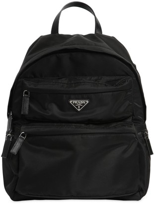 Prada LOGO NYLON CANVAS BACKPACK